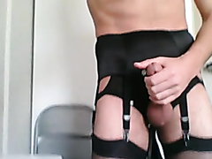 STOCKINGS WANK - video 5