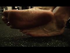 Hot Jock Feet in Gym