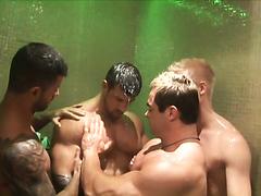 hot men in shower