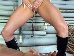 Nasty watering for the cock