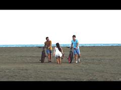 Two men one girl, full HD - video 2