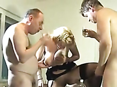 Three Guys Drink Urine From One Cute Lady