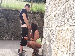Sexy Girlfriend Getting Fucked Up Against The Wall