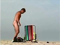 Hung guy at the beach - video 2