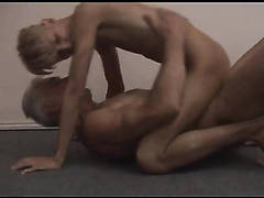 Grandpa fucks Tiny Blonde Twink Bareback