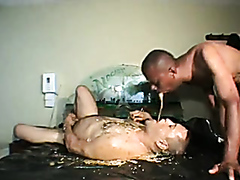 Gay group puking and scat eating