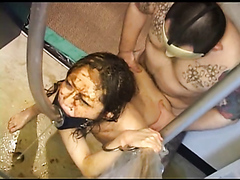 Japanese group hardcore sex with extreme scat torture