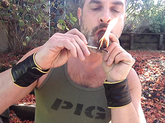 Grunt Smoking Cigar