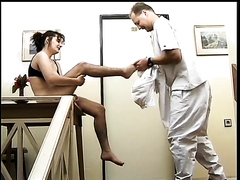 Doctor and nurse in shit sex