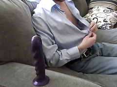 Straight man takes dildo 4