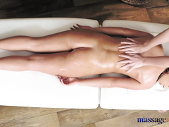 Lesbian games during massage, full HD