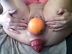 Orange and kong toy birthing