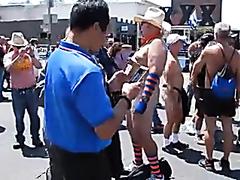 Naked Dad At Pride Celebration