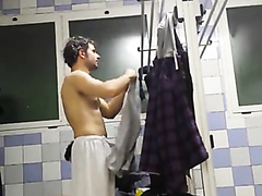 Guy getting naked