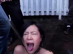 Piss and enema bukkake Japanese slut