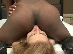 euro lesbo eating black brazil queen ass