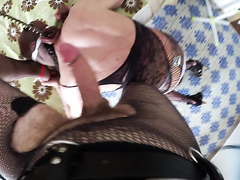 Mistress Katryn and Slave O - Tormenting Slave O in hotel room