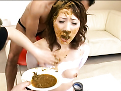 Beauties tasting poop and covering each other with shit