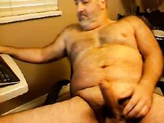 Dad Masturbates Uncircumcised Penis