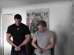 Bodybuilder Showing Off