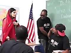 Pakistani teacher sucks and fucks many big black cocks