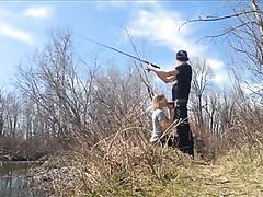 Fishing whilst she sucks me off