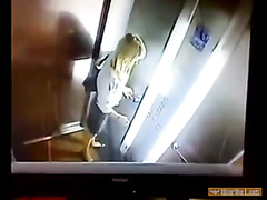 Desperate girl caught pissing and shitting in the elevator