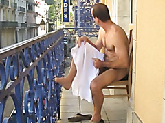 daddy on balcony