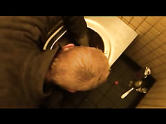 Public toilet piss and fuck pervert