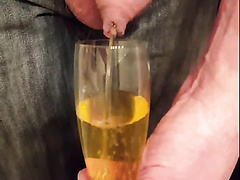 pissing and drinking