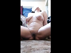 Amateur Selfie - mature playing and peeing