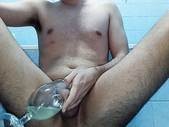 Pee drink with a bit of cum