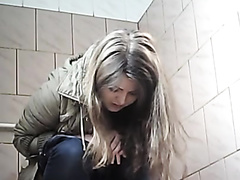 Spycam a ladies' public toilet