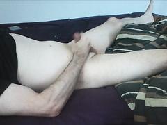 stroking cock