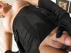 Busty ladyboy flashes her hot pissing