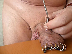 Tour his mutilated cock in kinky solo video