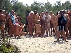 Naughty babe loves outdoor cock sucking