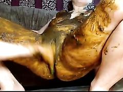 Lesbian scat play - video 2