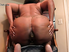 Ebony scat from chair
