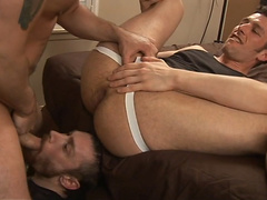 Threesome Ass to Mouth Cock and Cigar