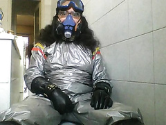 Solo play with sauna suit
