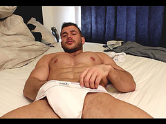 Muscular submissive hunk begs for it in deep