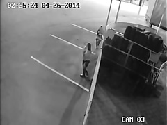 Desperate girls caught on tape by CCTV camera