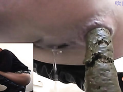 It's amazing to see a little girl hold in that much poop, for at least 2 or 3 days