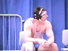 Wrestler guy with boner
