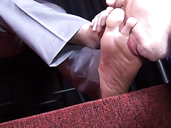 Foot slave for sheer socks