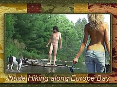 Nude hike along the Europe Bay Trail with Marcia Fannie