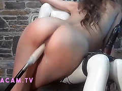 Machine Fucked by StormTrooper and Dildo