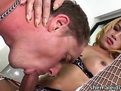 Beautiful Thai ladyboy gets her asshole fucked