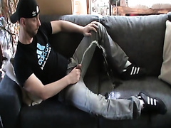Horny sofa pisser